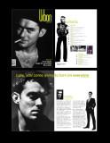 Urban magazine masthead and layout