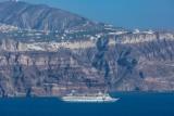 Cruise Ship and Caldera