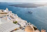 Cruise Ship and Volcano