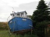 Stored boat
