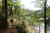 Hiking past the lake