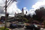 Approaching the church