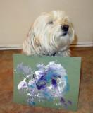 My Maltese-Poodle Mix dog, Muffy