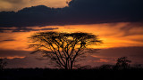 Sunset in South Omo Valley