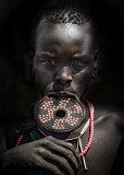 Mursi Woman With Clay Lip Plate