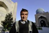 Samarkand, at Bibi-Khanym Mosque