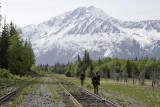 Train line at Turnagain Arm