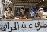 Exchange dealer at the Tunisian border