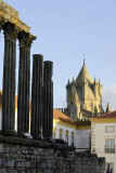 Roman Temple and Cathedral of Évora, Portugal