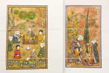 Bukhara, paintings at Emir Summer Palace