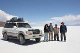 Uyuni Salar, our group at Isla del Pescador