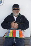 Ticket man of the ferry, New Zealand