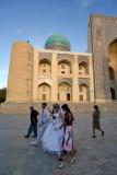 Bukhara, grooms in front of Mir-i-Arab Medressa