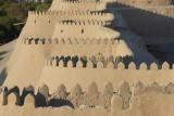Khiva, the west mud walls of Ichon-Qala