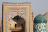 Khiva, Mohammed Rakhim Khan Medressa from the Kuhna Ark lookout
