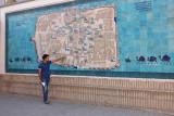 Khiva, old town tile map