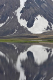 Lake by the side of the Road F208 near Landmannalaugar