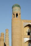 Khiva, Kutlimurodinok Medressa and Islom-Hoja Minaret