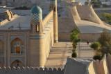 Khiva, Mohammed Amin Khan Medressa (Hotel Orient Star) from Kuhna Ark