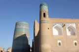 Khiva, Kalta Minor Minaret and Mohammed Amin Khan Medressa (Hotel Orient Star)