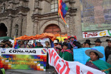La Paz, demonstration at the Cathedral Square