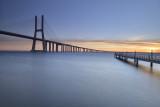 Vasco da Gama Bridge and pier