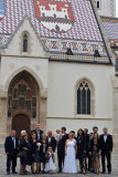 Zagreb, wedding photo session at St Mark's Church