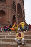 New Delhi, on the steps of Juma Masjid