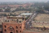 New Delhi, view from the Minaret of Juma Masjid