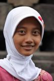 At Borobodur Temple, Java Island, Indonesia
