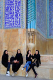 Esfahan, young ladies in front of Masjed-e Iman