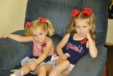 TEAGAN AND PRESLEY WAITING TO GO TO THE FAIR