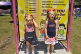 FIRST WE HAD TO CHECK OUT WHICH RIDES TEAGAN AND PRESLEY COULD RIDE