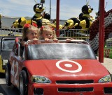 THE MINI CARS WERE THE FIRST RIDE OF THE DAY AND A FAVORITE