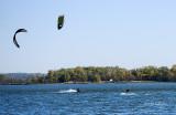 Kite Boarding On Lake Manawa Iowa