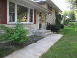 Front walk before landscaping