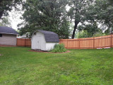 Privacy fence on the north