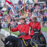 RCMP Musical Ride at Sunset