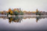 Audie Lake, first snow