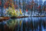 Perch Lake, first snow