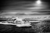Surreal winter scene at Lake Superior