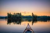 Kayaking on Audie Lake