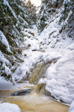Morgan Falls under snow