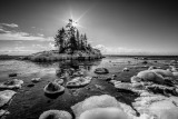Island in black and white