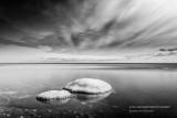 Ice capped rocks