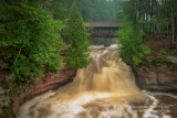 Lower falls with covered bridge