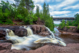 Upper Falls with Hwy 61 bridge