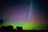 August Aurora with Milky Way