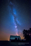 Milky Way with barn