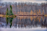 Audie Lake, late fall reflections